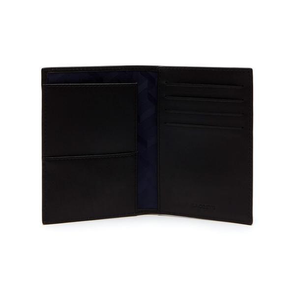 Lacoste Men's Fitzgerald Leather Passport Holder