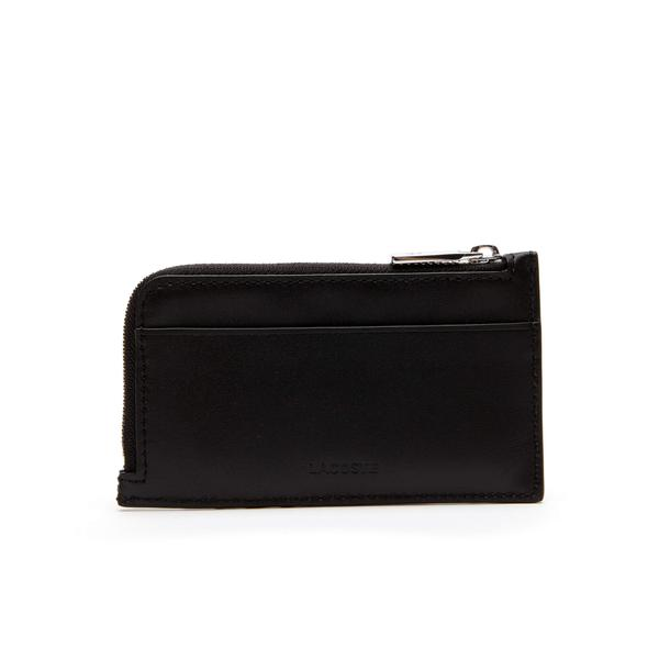 Lacoste Men's Fitzgerald Leather Zip Card Holder