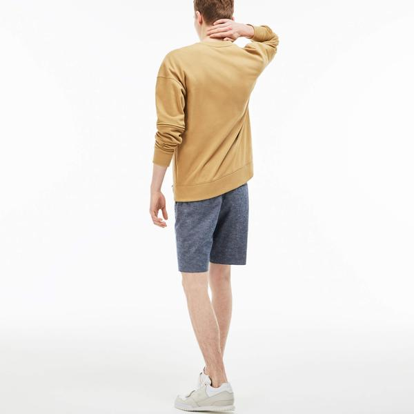 Lacoste L!VE Men's Linen And Cotton Chambray Bermuda Shorts