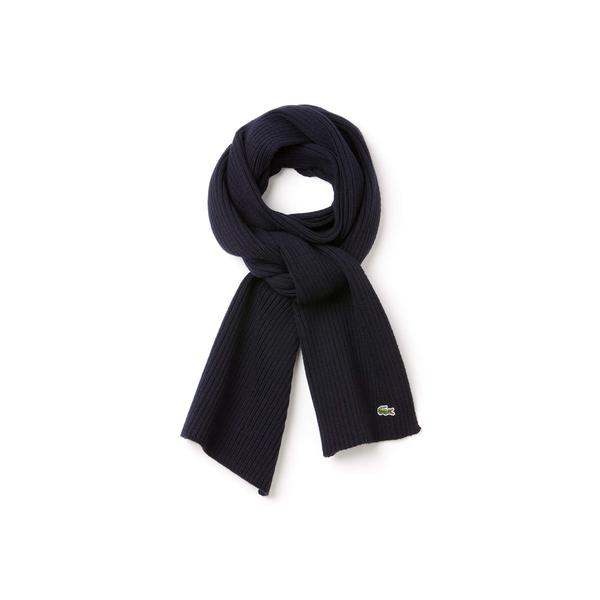 Lacoste Men's Ribbed Wool Scarf