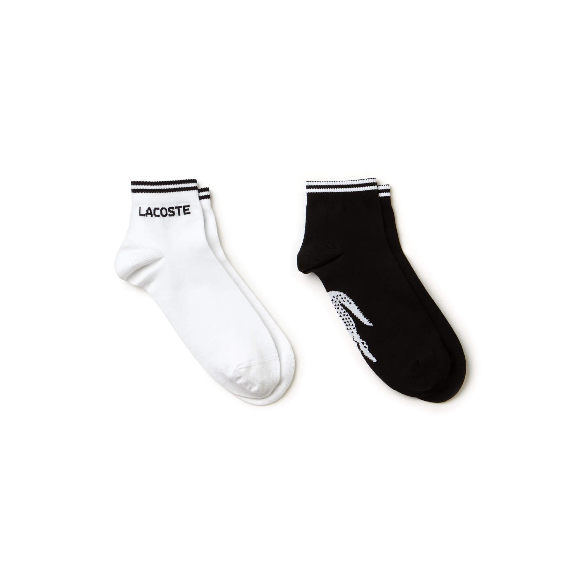 Lacoste Men's Two-Pack Of Lacoste Tennis Low-Cut Socks İn Jacquard Jersey