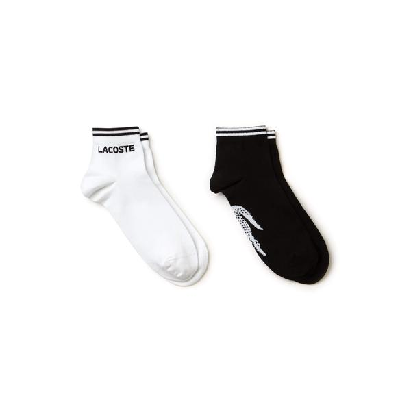 Lacoste Men's Two-Pack Of Lacoste Tennis Low-Cut Socks İn Jacquard Jersey