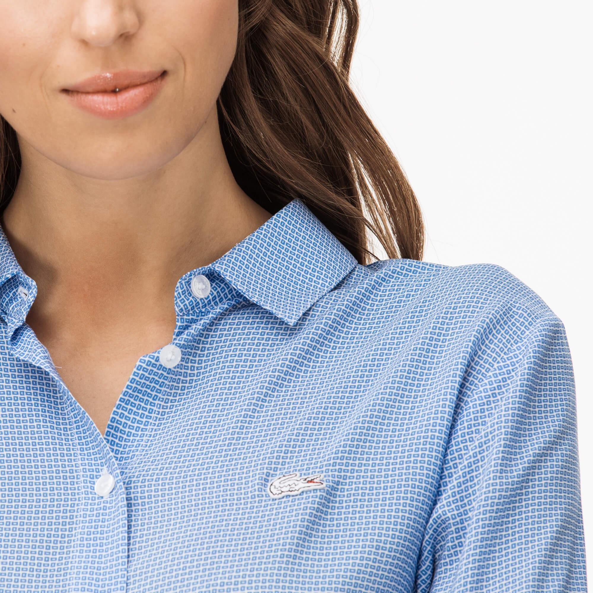 Lacoste Women's Long Sleeve Woven Shirt