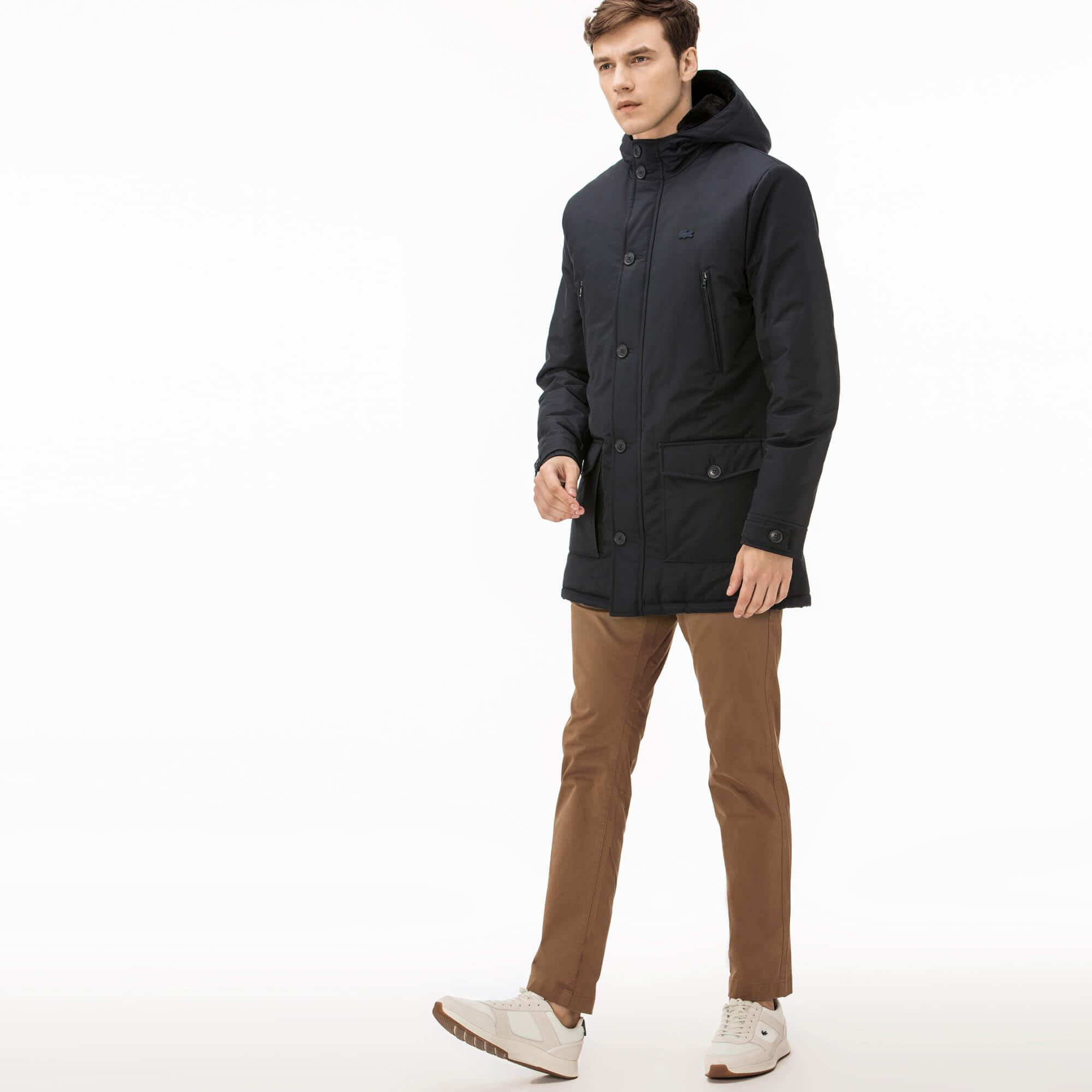 Lacoste Men's Short Brushed Cotton Jacket With Pockets