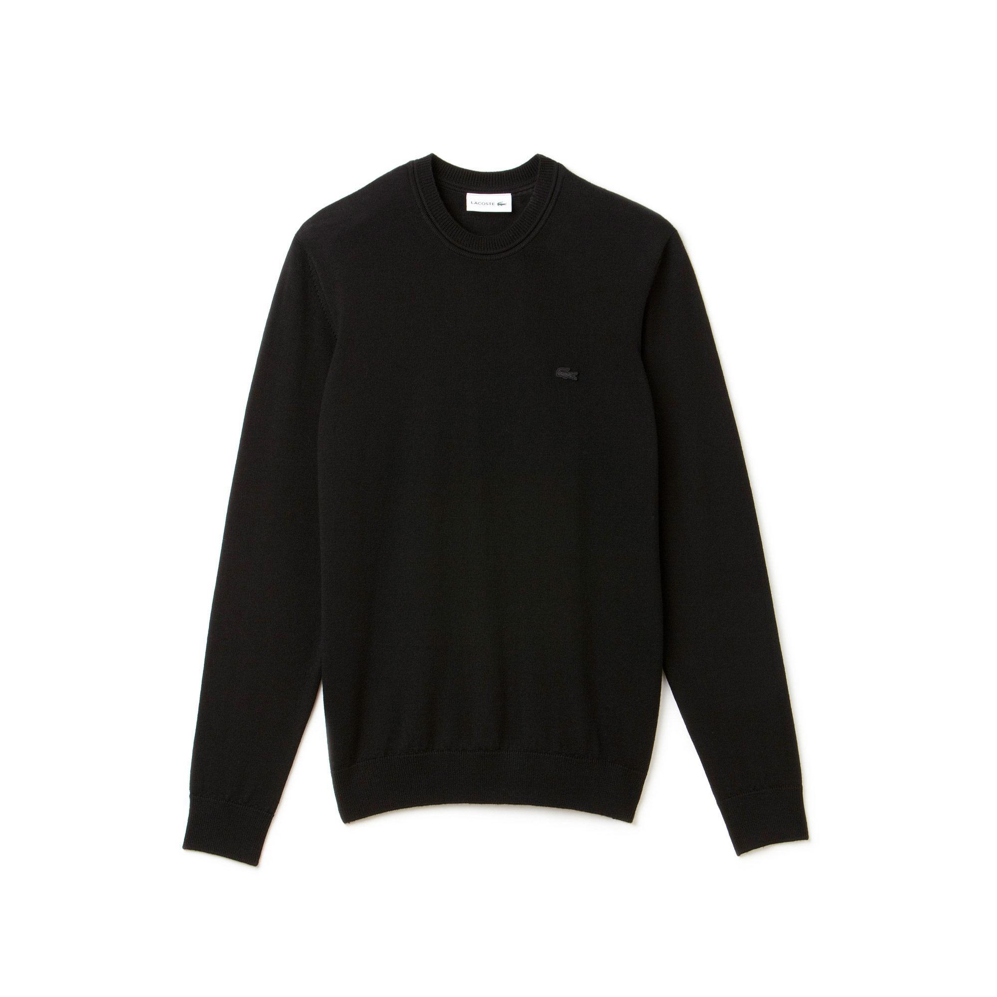 Lacoste Men's Crew Neck Wool Jersey Sweater