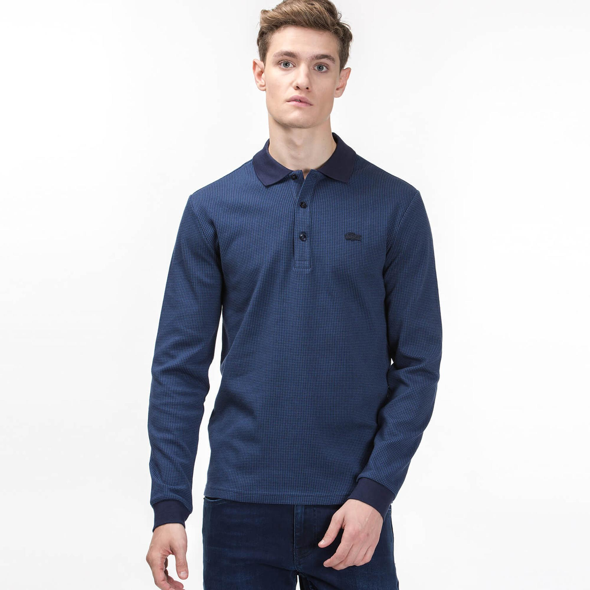 Lacoste Men's Long Sleeve Slim Fit Polo