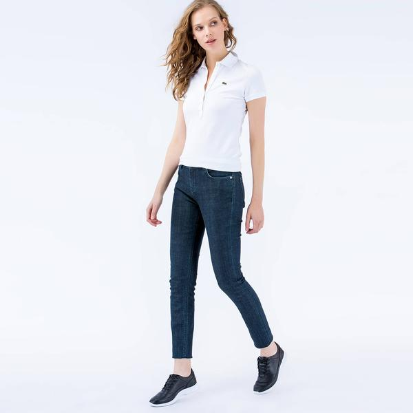 Lacoste Women's Slim Fit Stretch Cotton Denim Jeans
