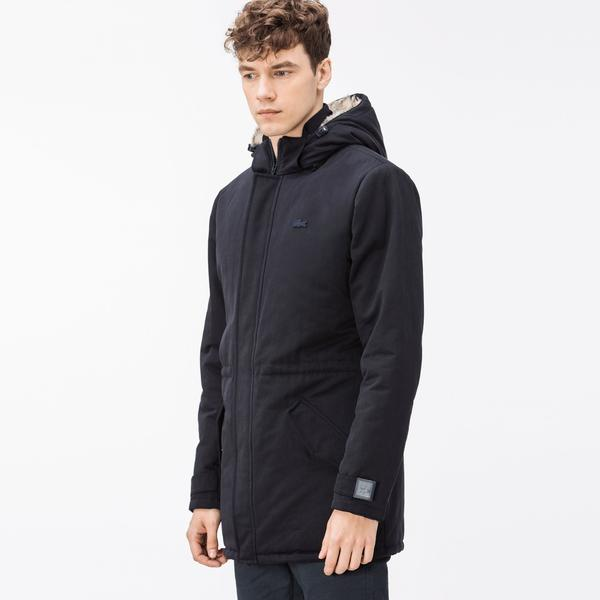 Lacoste Men's Lightweight Foldable Hooded Water-Resistant Puffer Coat
