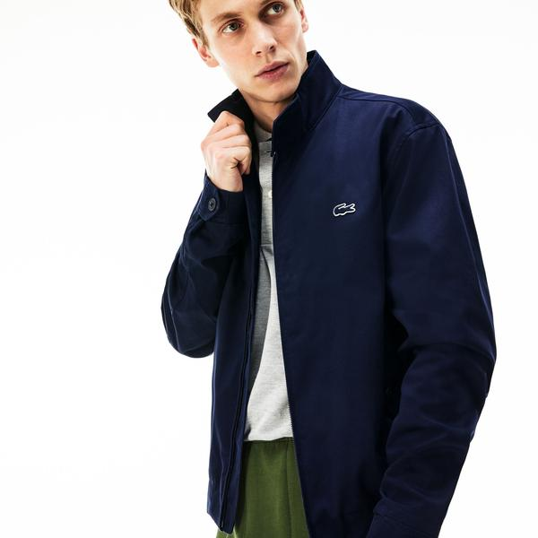 Lacoste Men's Short Zip Cotton Twill Jacket
