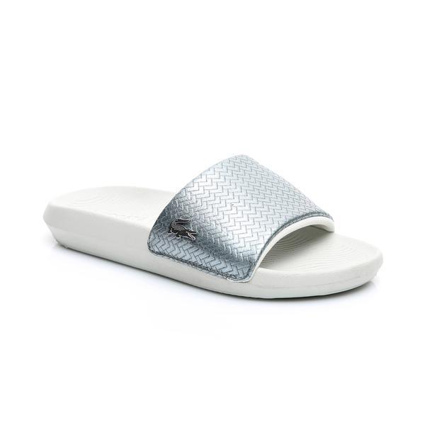 Lacoste Women's Croco Slide 119 6  Leather Slippers