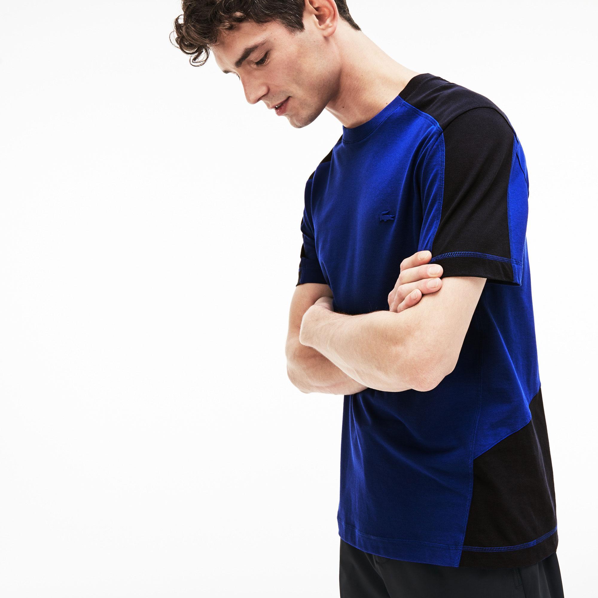 Lacoste Men's Motion  Crew Neck Bicolour Ultra Light Cotton T-Shirt