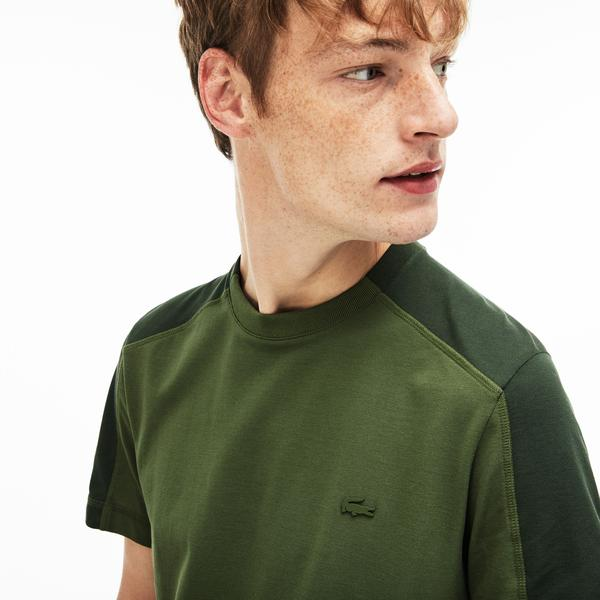 Lacoste Men's Motion  Crew Neck Bicolour Ultra Light Cotton T-Shirt