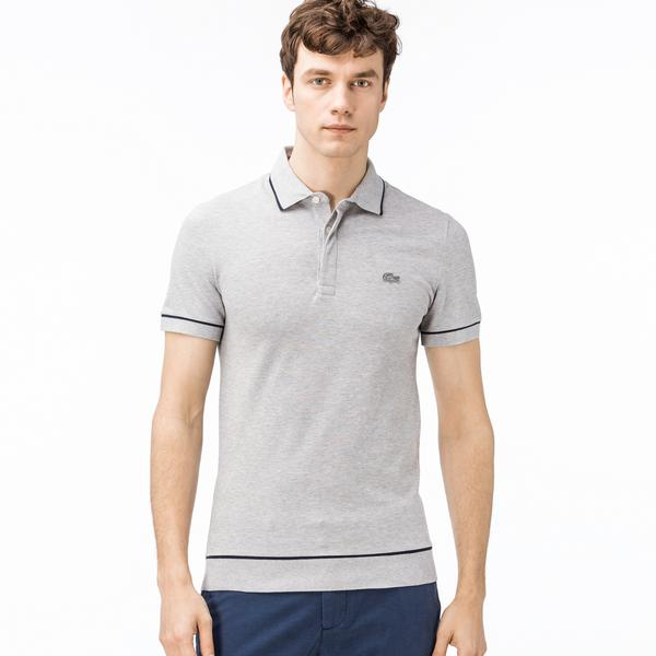 Lacoste Men's Regular Fit Piped Stretch Cotton Mini Piqué Polo