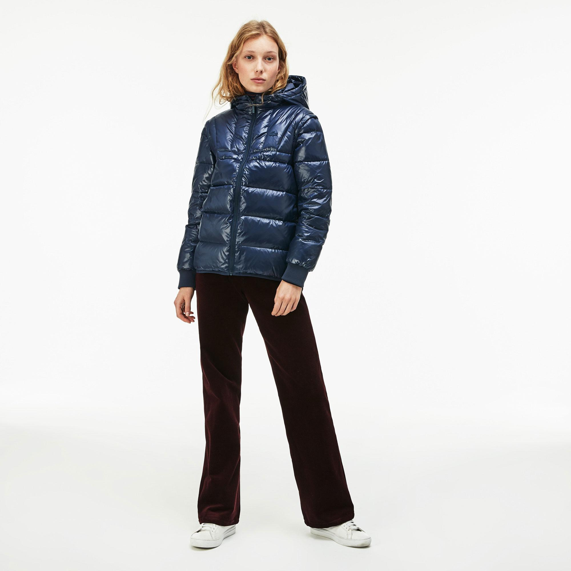 Lacoste Women's Hooded Quilted Taffeta Jacket