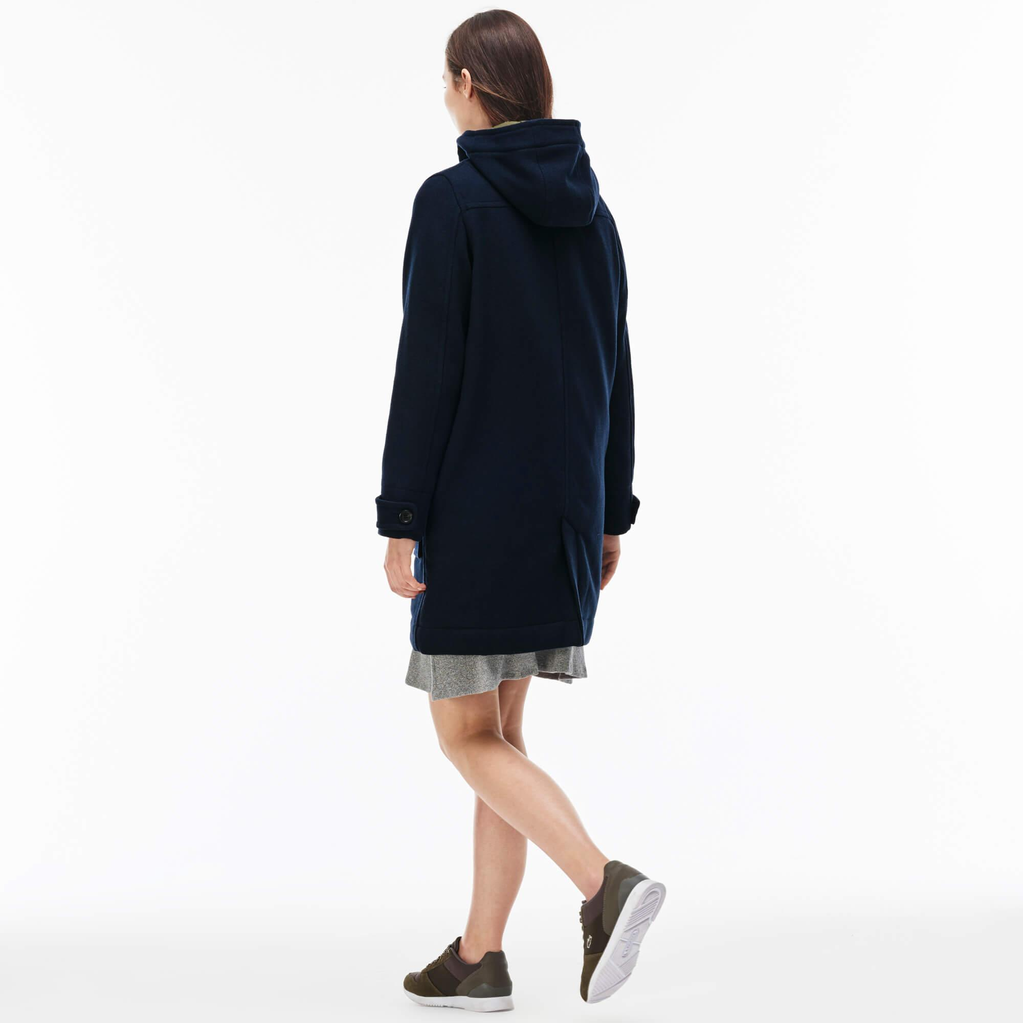 Lacoste L!VE Men's Wool Broadcloth Duffel Coat
