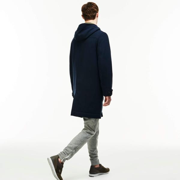 Men's Lacoste LIVE Wool Broadcloth Duffel Coat