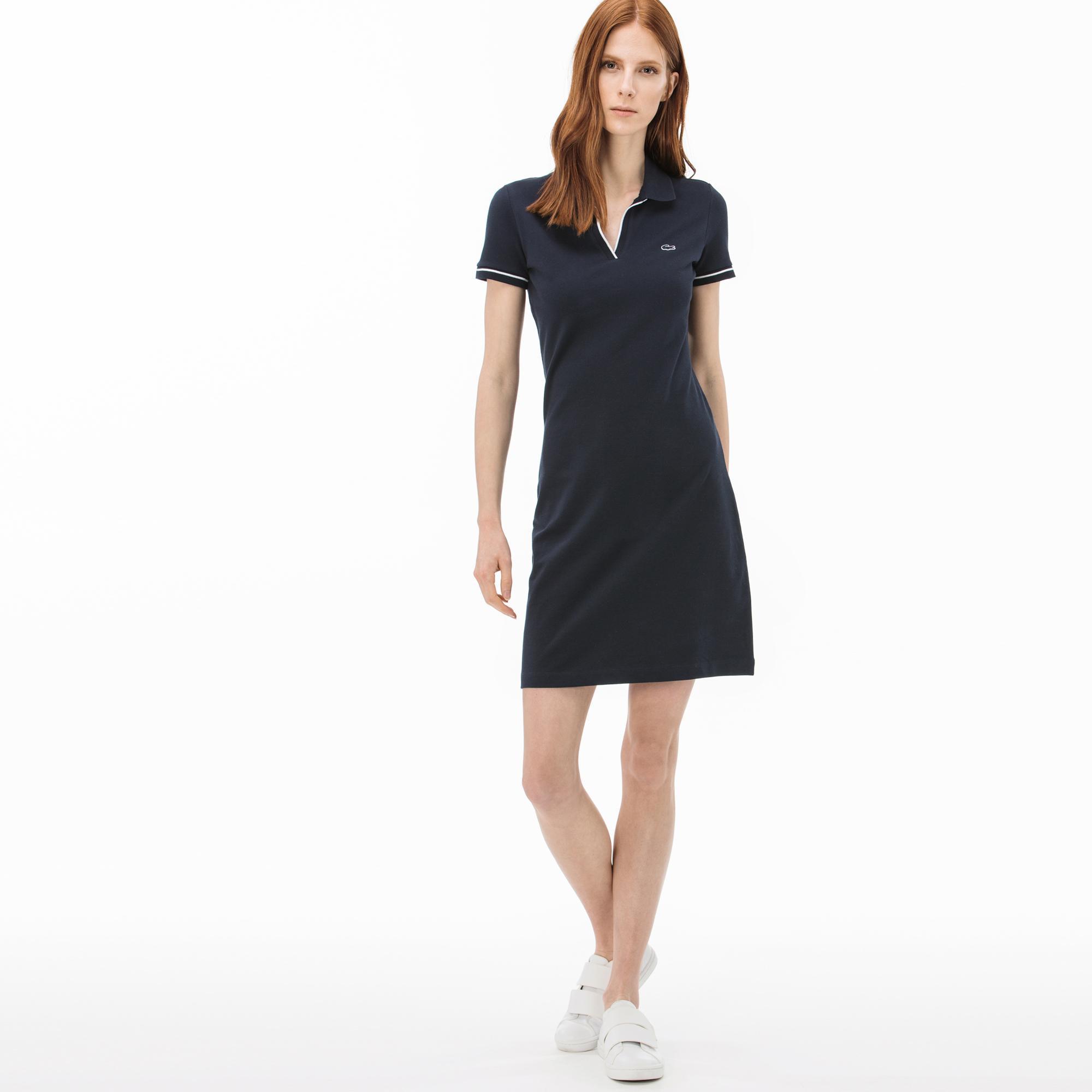 Lacoste Women's Polo Collar Short Sleeve Dress