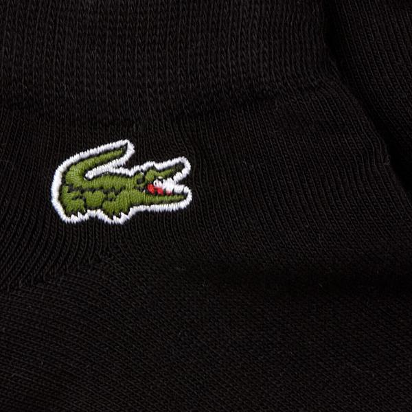 Lacoste Men's Three-pack Low Cut Socks in Solid Jersey