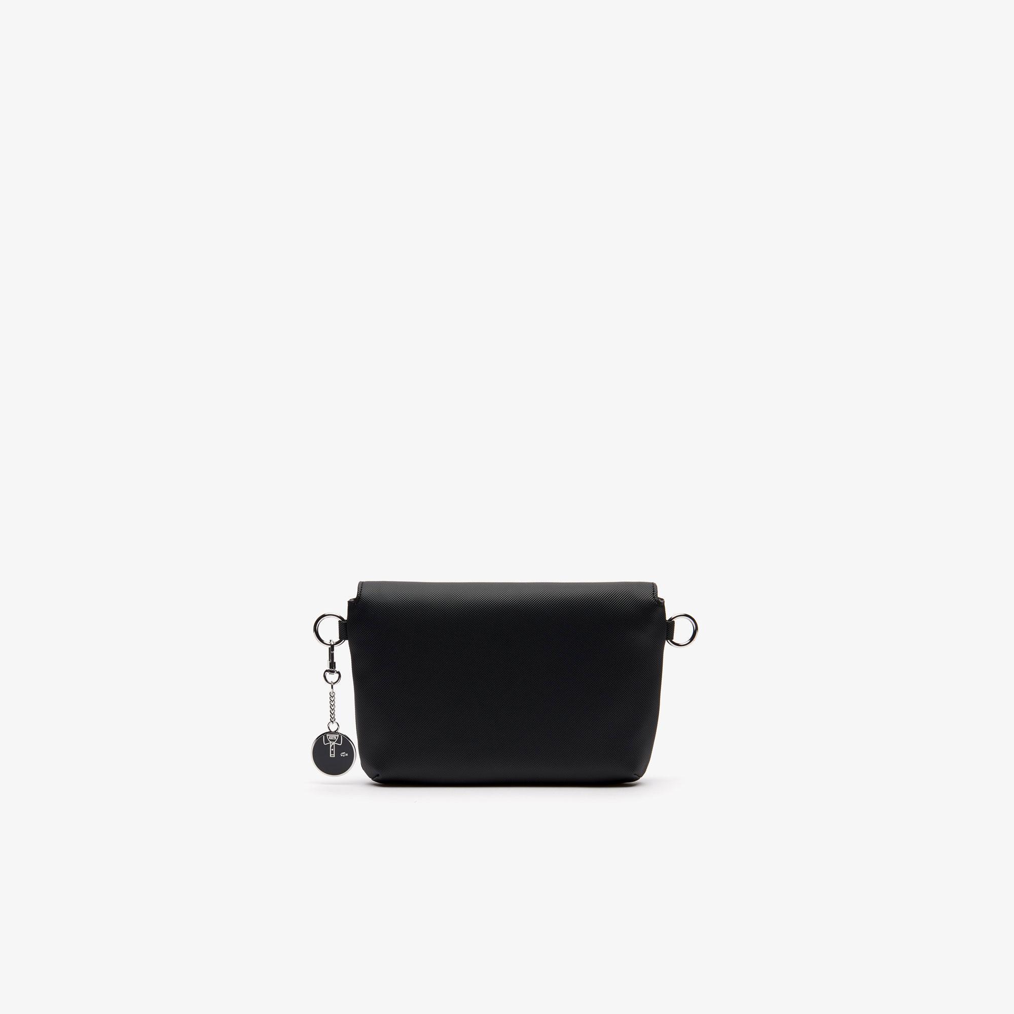 Lacoste Women's Daily Classic Coated Piqué Canvas Flap Shoulder Bag