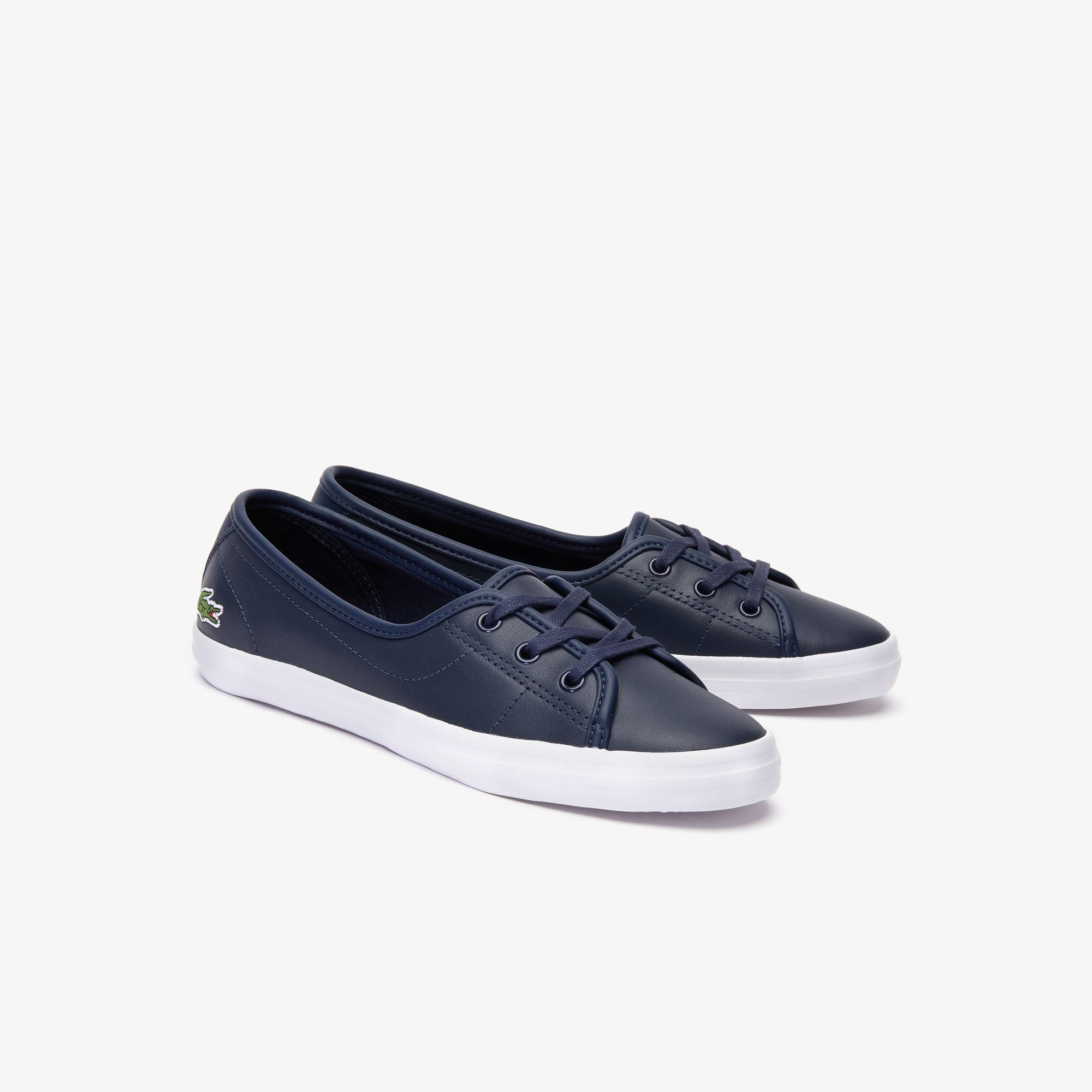 New Lacoste Womens Ziane Chunky CAW Pumps Black Trainers All Sizes
