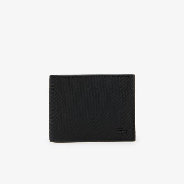 Lacoste Men's Classic Petit Piqué Six Card Wallet