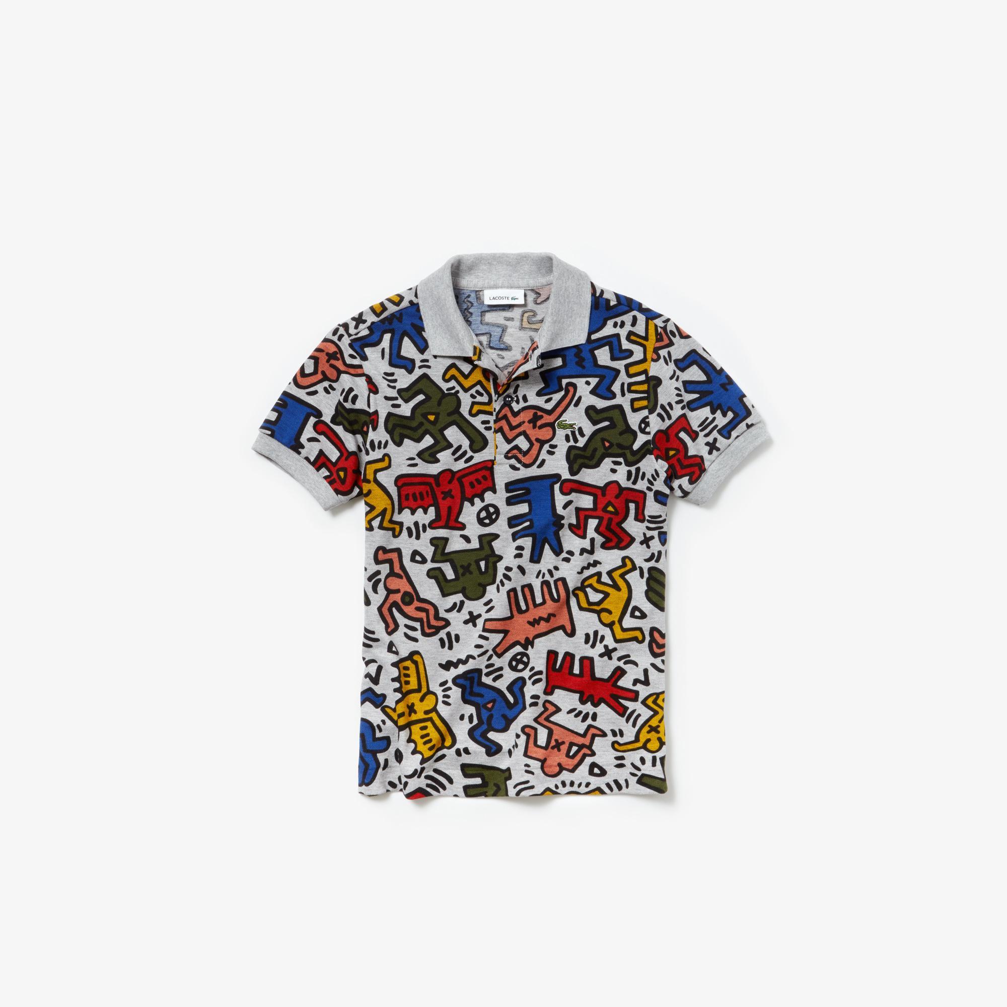 Lacoste Kids' Keith Haring Print Mini Piqué Polo