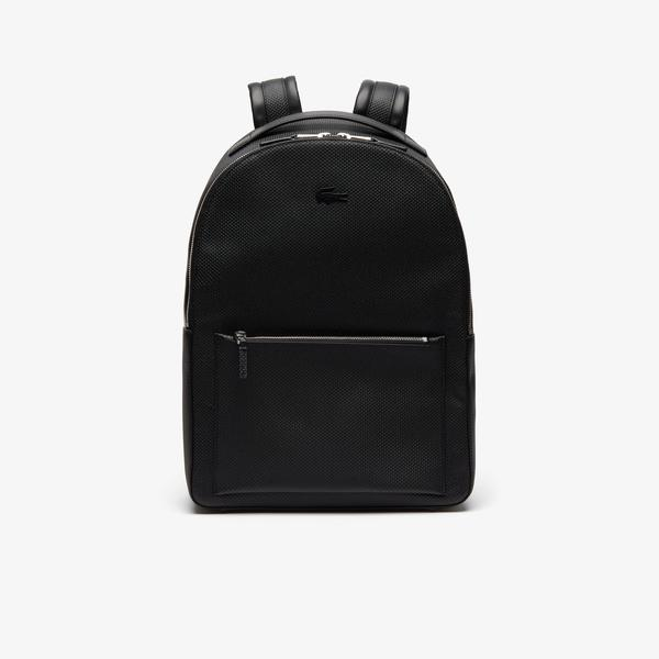 Lacoste Men's Chantaco Soft Leather Zip Backpack