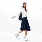 Lacoste Women's Knee-Length Knit Skater Skirt