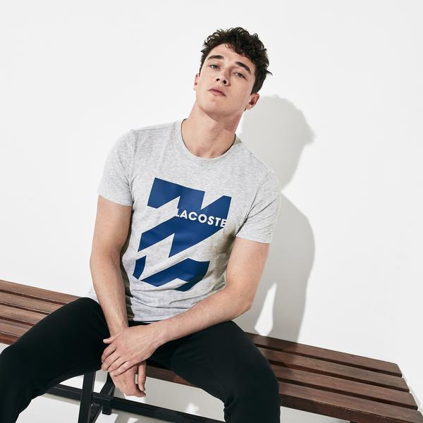 Lacoste Sport Men's Graphic Print Breathable T-Shirt
