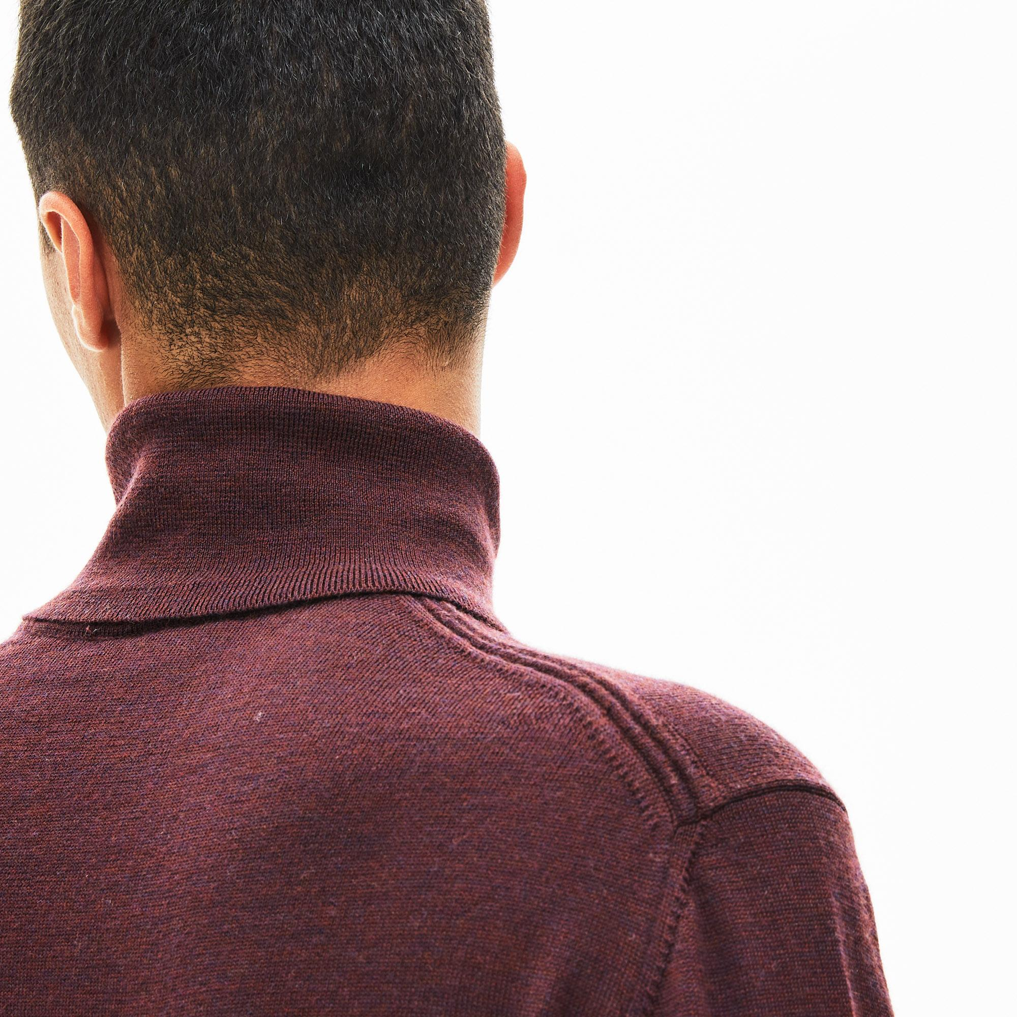Lacoste Men's Turtleneck Wool Jersey Sweater
