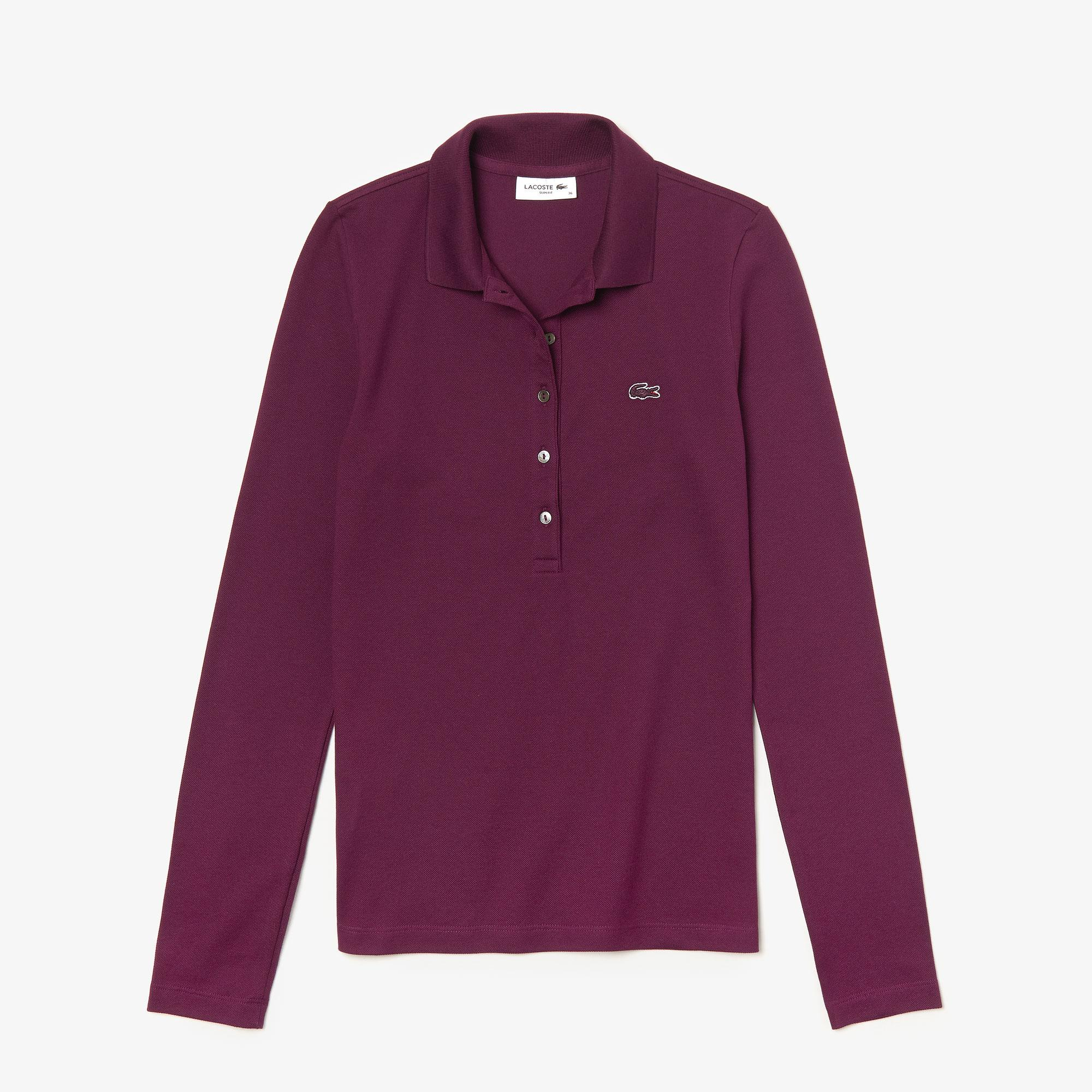 Lacoste Women's Slim Fit Stretch Mini Piqué Polo