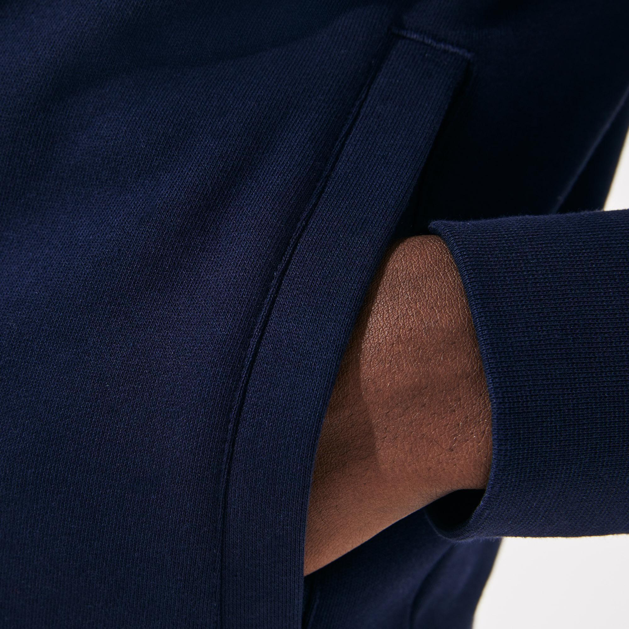 Lacoste Men's Sport Tennis Hooded Zippered Sweatshirt İn Fleece