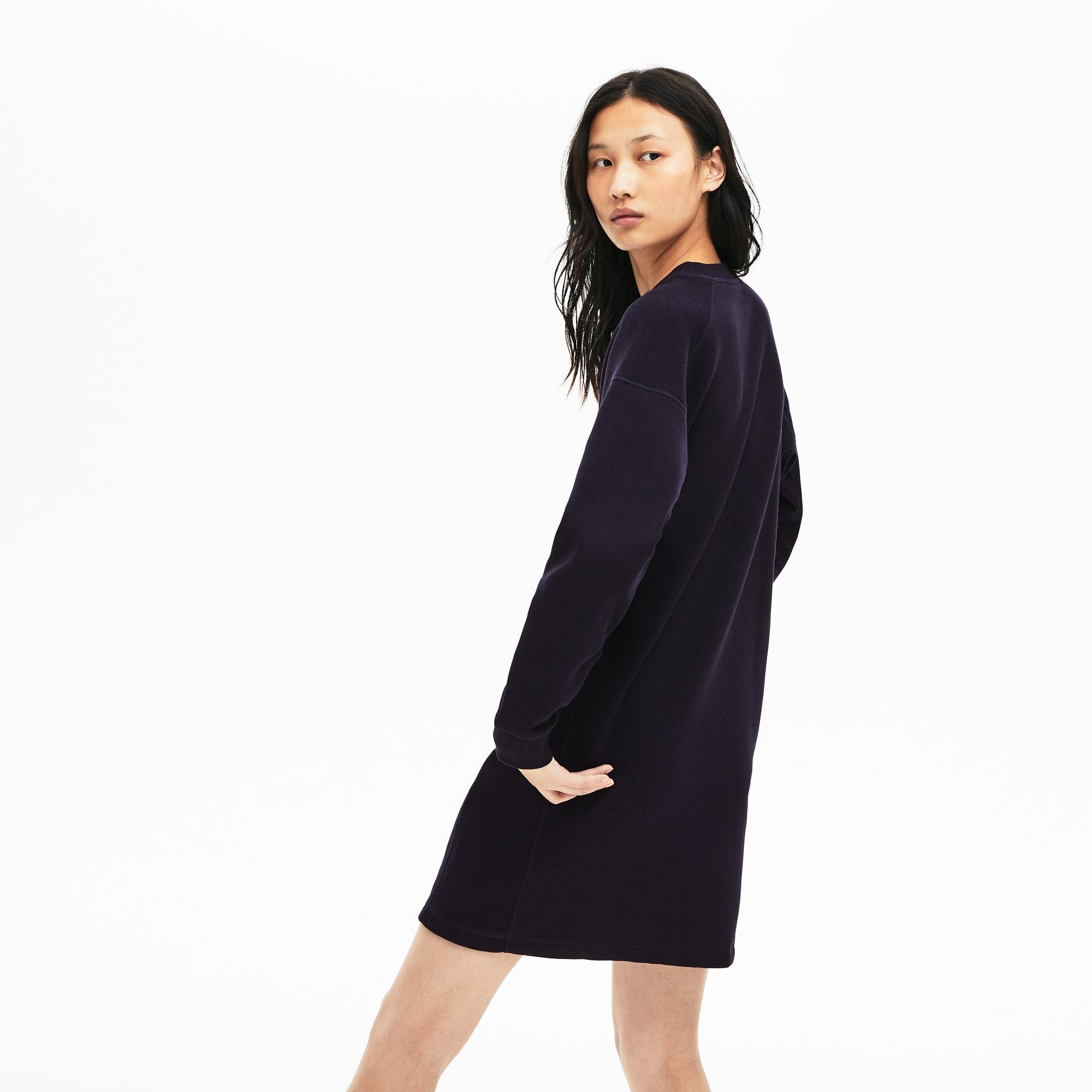 Lacoste Women's Motion Ribbed Panels Two-Ply Sweatshirt Dress