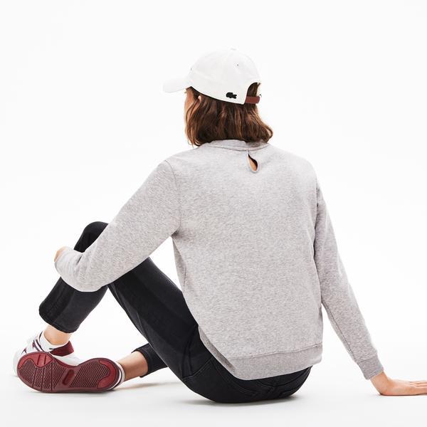 Lacoste L!VE Women's Velvet Croc Fleece Sweatshirt