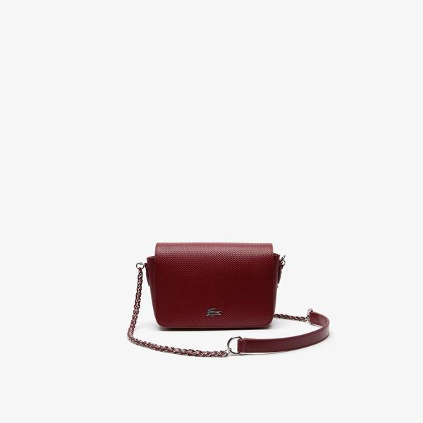 Lacoste Women's Chantaco Piqué Leather Shoulder Bag