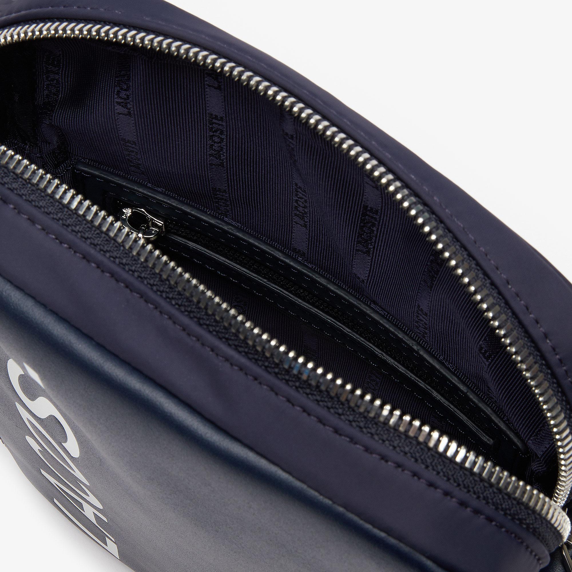 Lacoste Men's L.12.12 Signature Leather Cross Body Bag