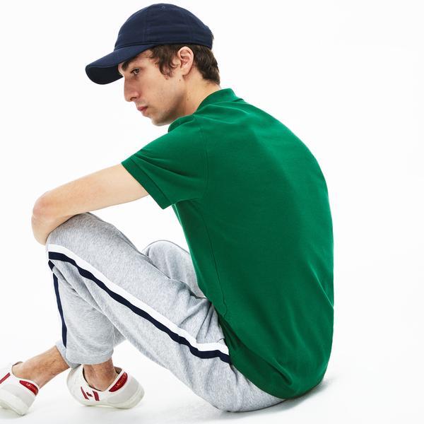 Lacoste Men's Slim Fit Polo in Stretch Petit Piqué