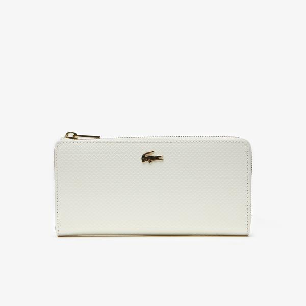 Lacoste Women's Chantaco Piqué Leather 8 Card Wallet