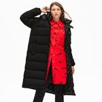 Lacoste L!VE Women's Print Lining Long Reversible Quilted Jacket