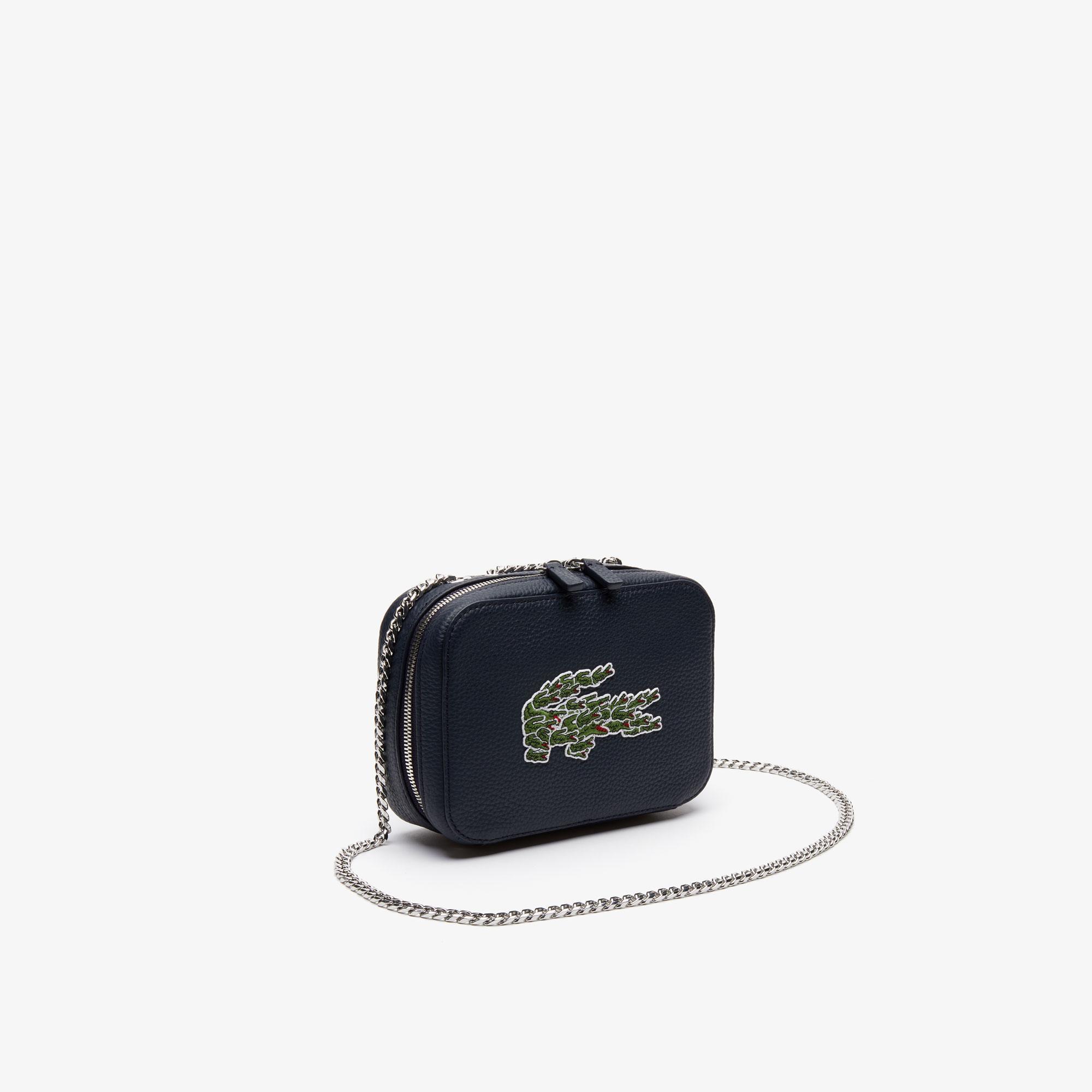 Lacoste Women's Croco Crew Multicroc Grained Leather Shoulder Bag