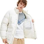 Lacoste Men's Detachable Hood Multiple Pockets Water-Resistant Quilted Jacket