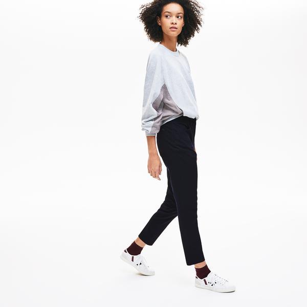 Lacoste Women's Slim Fit Stretch Cotton Serge Pants