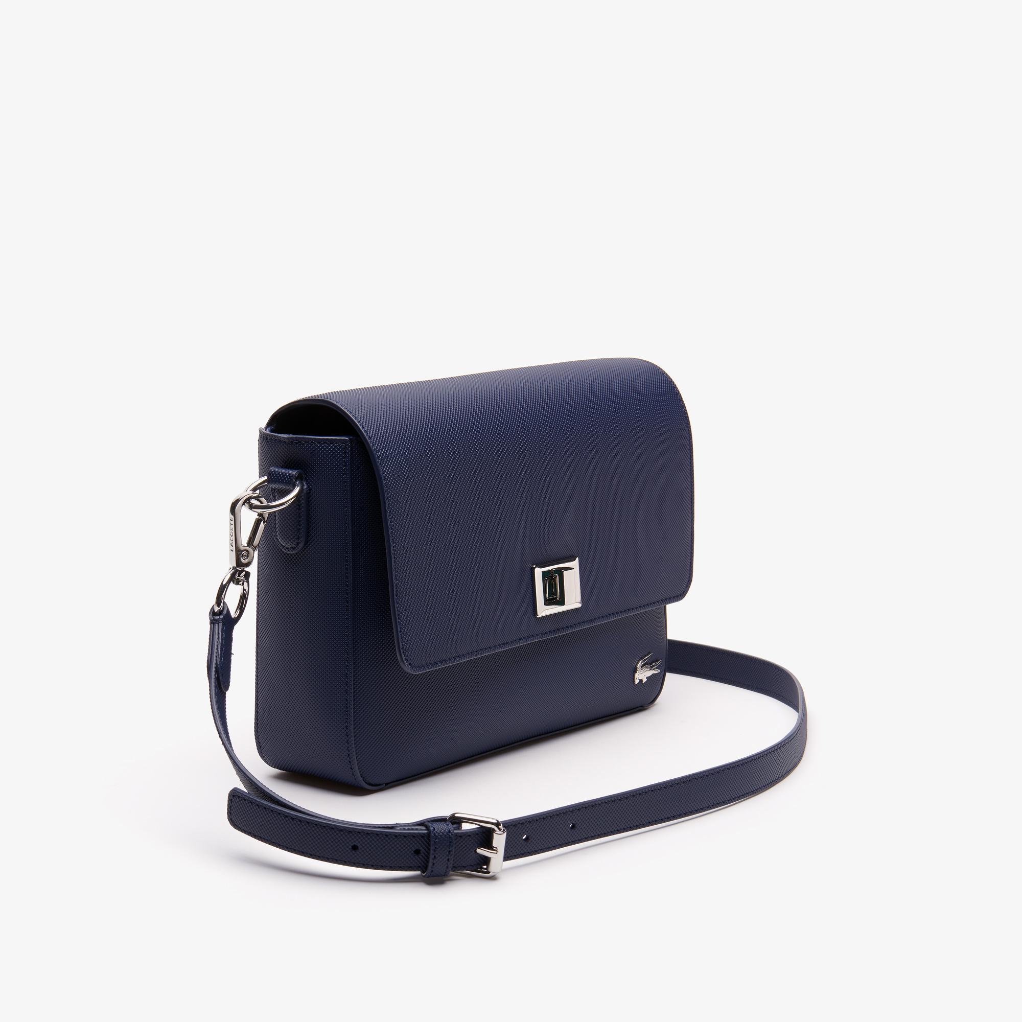 Lacoste Women's Daily Classic Coated Piqué Canvas Clasp Shoulder Bag