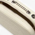 Lacoste Women's Croco Crew Grained Leather Zip Shoulder Bag