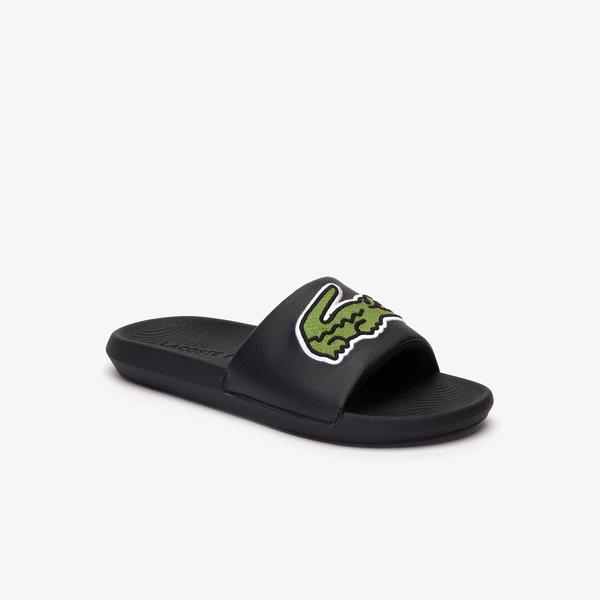 Lacoste Men's Croco Synthetic Slides