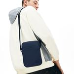 Lacoste Men's Classic Petit Piqué Vertical Zip Bag