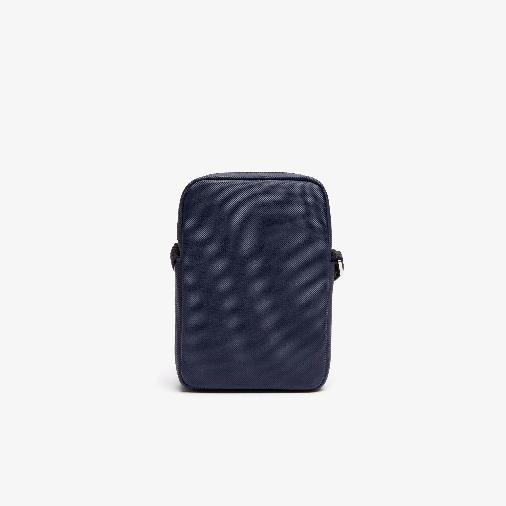 Lacoste Men's Classic Petit Piqué Vertical Zip Bag