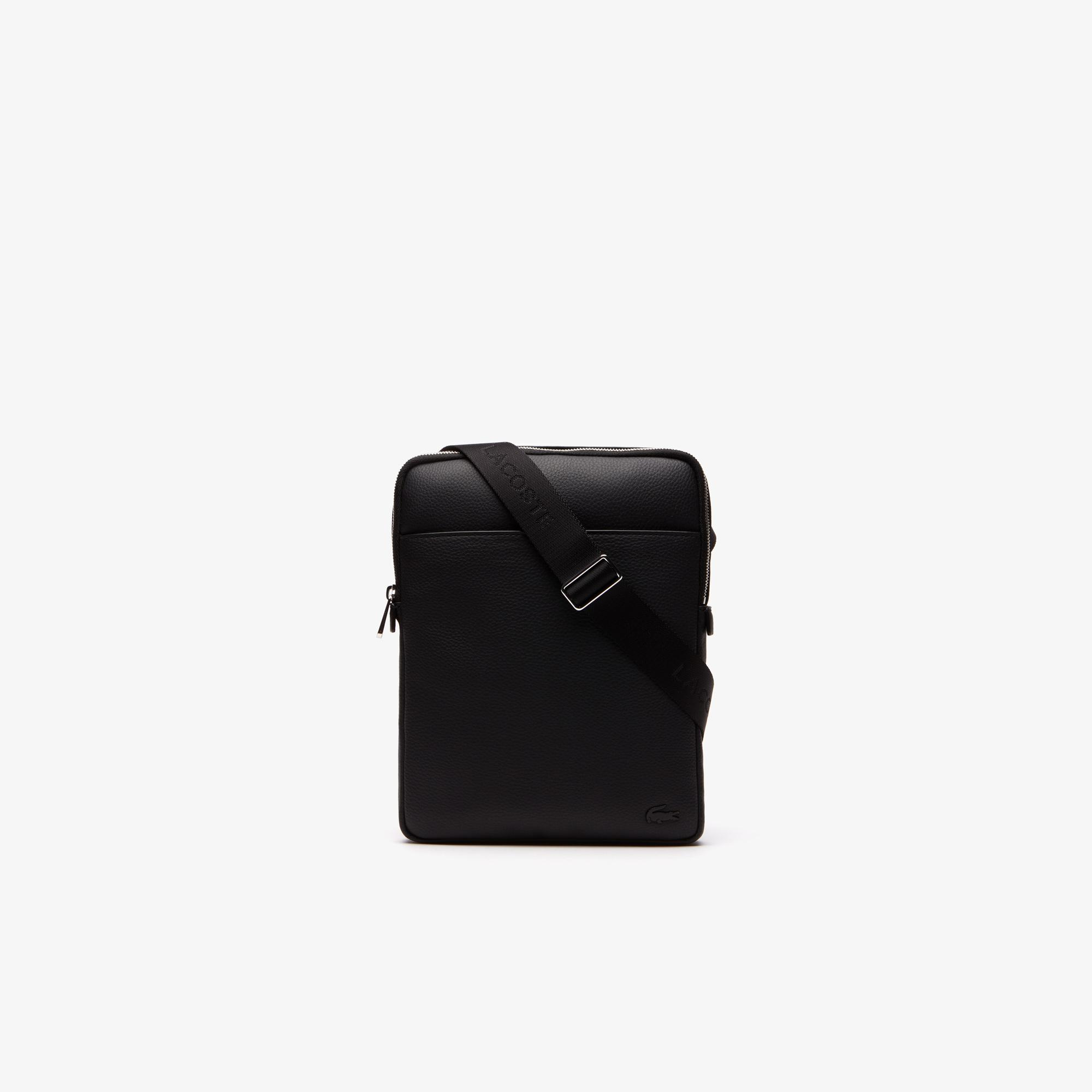 Lacoste Men's Gaël Coated Piqué Canvas Flat Zip Bag