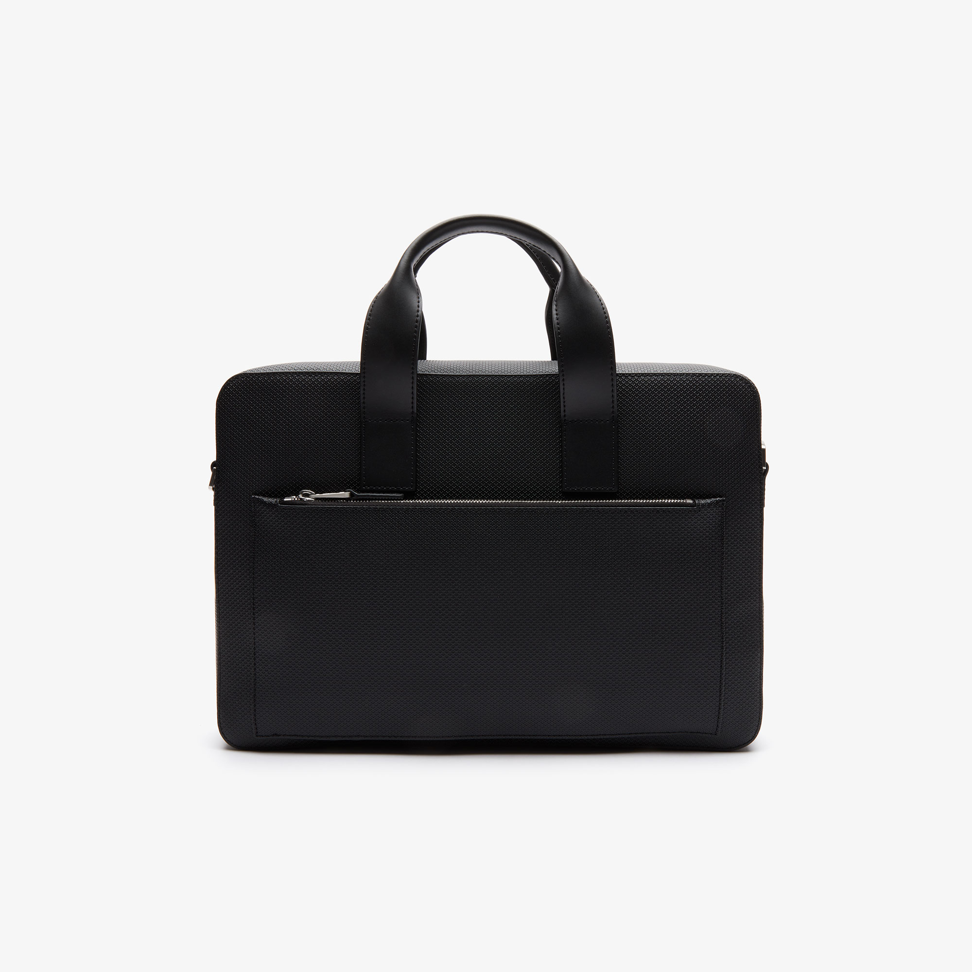 Lacoste Men's Chantaco Matte Piqué Leather Computer Bag
