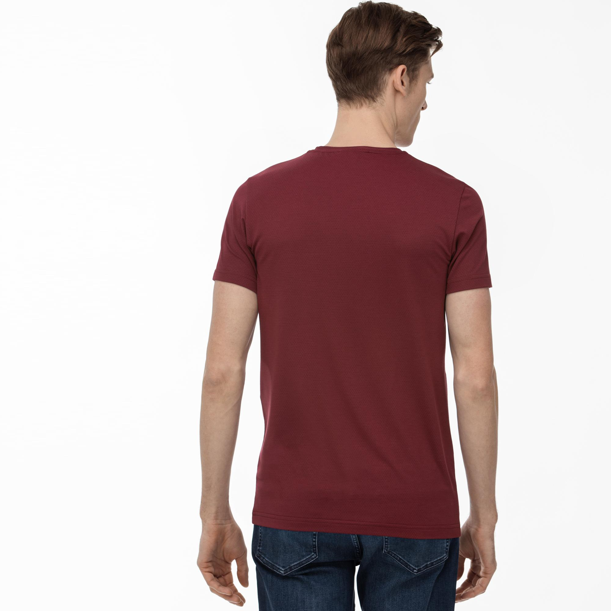 Lacoste Men's Round Neck Patterned T-Shirt